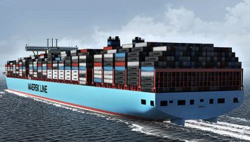 The largest containerships in the world