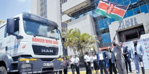 Flagging off the first Truck: Photo credit: DAILY NATION