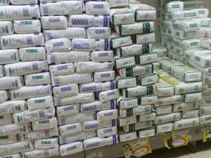Maize meal flour stocked in a local supermarket