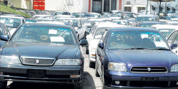 Imported vehicles at a yard in Mombasa | CREDIT // Business Daily Kenya